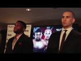 Rory MacDonald and Paul Daley Intense Face off in London