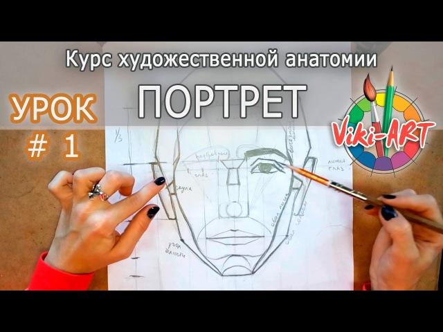 Как нарисовать портрет: ПОЛНЫЙ РАЗБОР! Пропорции головы и лица. Анатомия. Рисуем ...