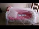 How to make baby nest Ana kucağı Babynest Yastığı ve Tül Korumalığı yapımı Part 2