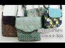 Patchwork Ao Vivo 56: bolsa carteiro, 1ª aula (alça e bolsos internos)