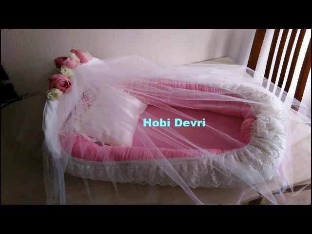 How to make baby nest-Ana kucağı (Babynest), Yastığı ve Tül Korumalığı yapımı- Part 2