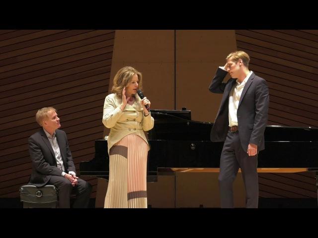 Alexander York 2016 Master Class with Renée Fleming