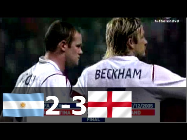 Argentina vs England 2-3 - 2005 - All Goals Full Highlights (English Commentary)