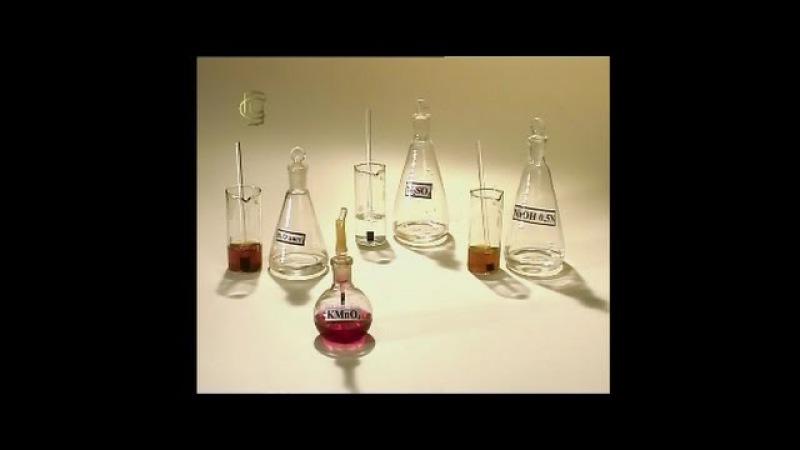 Опыты по химии. Взаимодействие перманганата калия с сульфитом натрия в различных средах