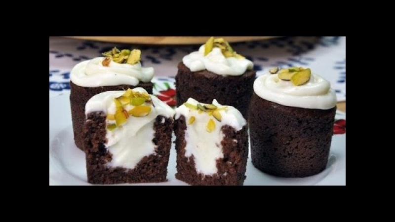 Шоколадное пирожное с кремом внутри.Супер простой и вкусный рецепт!Şahane Bardak Kek