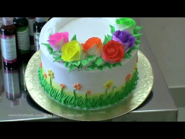 украшение тортов видео урок 1062 Hướng dẫn trang trí bánh kem cơ bản