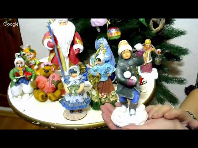 Васько Елена Ватная игрушка на елку Грибочек