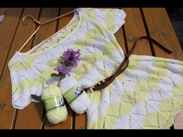 Вязание спицами Ажурный топ из пряжи амазонка от color city.мое мнение о пряже