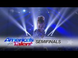 Sofie Dossi: Teen Contortionist Captivates in Shining Performance - Americas Got Talent 2016