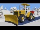 Tractor fairy tale for Kids and Snow Winter Traktorek Dla Dzieci Na Ratunek Autku