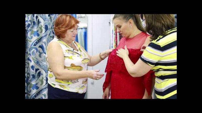 Красное платье Как сшить кружевное платье Работа с заказчиком От выбора модели до примерки Часть 3