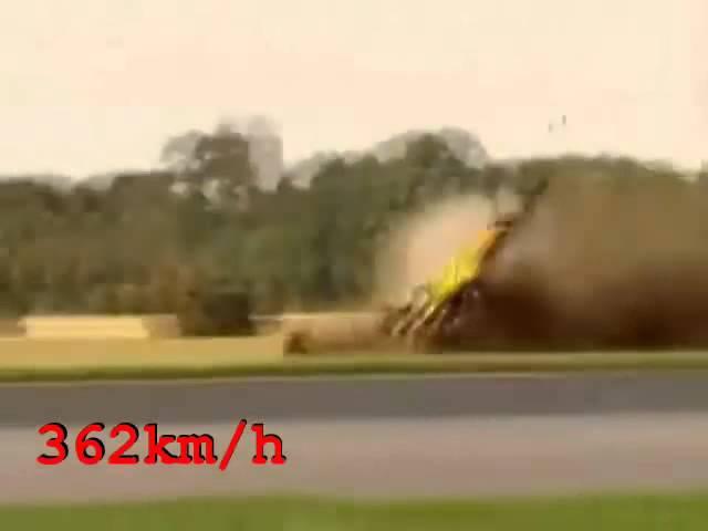 Richard Hammond's Crash когда хотел выйти за 500 км/ч