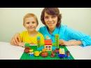 Носики Курносики • Лего огород и Даник с мамой. Собираем конструктор Lego Duplo мой первый сад. Видео детям
