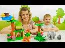 Носики Курносики • Конструктор Лего Джунгли - Играем с Даником и мамой в LEGO DUPLO Jungle 10804