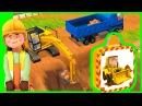 Носики Курносики • Маленькие Строители и рабочая машинка Экскаватор - Пазлы и приложение для детей