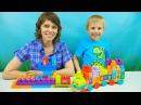 Носики Курносики • Паровозик Мега Блокс и Даник с мамой - Развивающее видео для детей про цифры