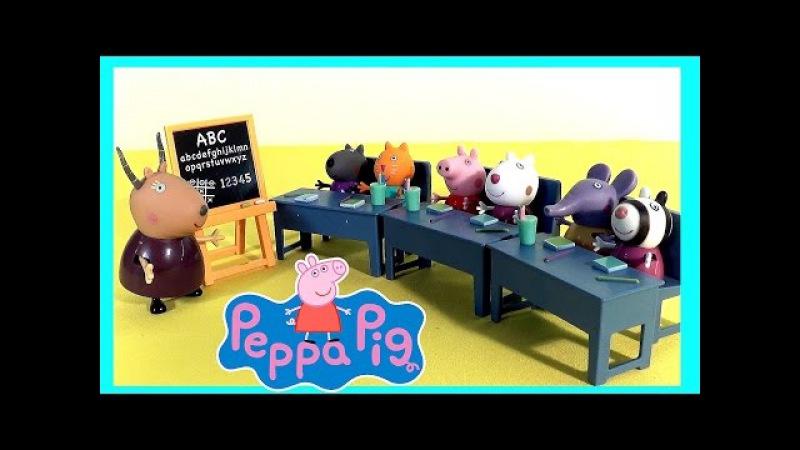 Носики Курносики • Свинка Пеппа и её класс - первая встреча. Peppa Pig
