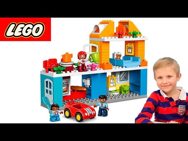 Носики Курносики • Даник и Мама играют в Лего набор - Семейный Дом. Развивающий конструктор для детей Lego Duplo 10835