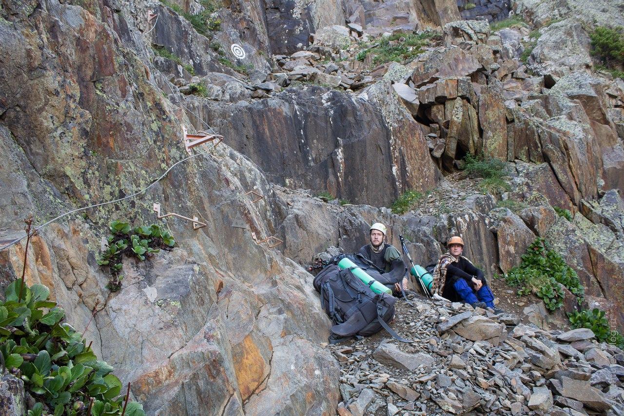 Начало скального подъема на Купол