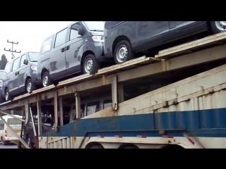 Автовоз в Китае! Жесть!