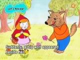 Красная шапочка и серый волк. Сказка на английском языке с субтитрами.
