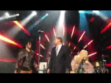 Лео, Мадонна и Ленни Кравиц на сцене благотворительного гала-вечера в Сен-Тропе, 26.07.2017