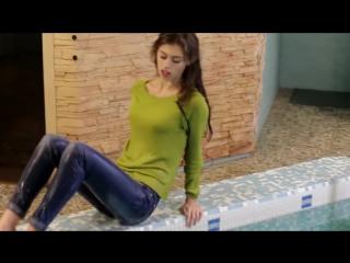 Amazing Wetlook Sexy Girl in Hot Wet Dress under shower