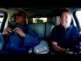 Караоке в машине. Стиви Уандер и Джеймс Корден.