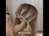 Коса с резиночками на распущенные волосы. Красота?