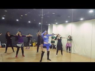 Orit Maftsir in Korea 2017- Fun Saidi bellydance class