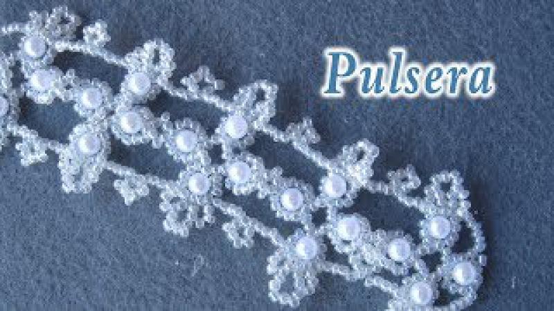 DIY - Pulsera filigrana con mostacillas y perlas DIY - Filigree Bracelet with Pearls