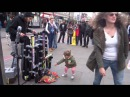 Amazing PVC Pipe Guy style Flip flop drummer: playing House/Trance/Techno in Camden Market, London