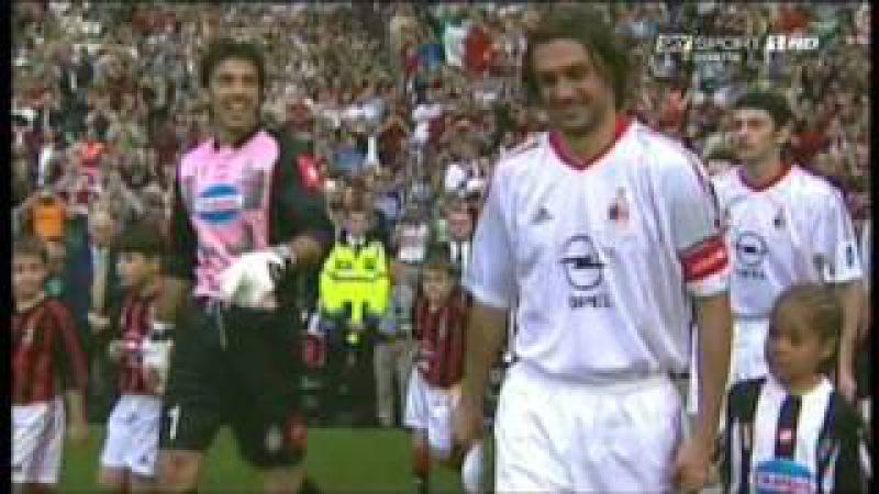 Michel Platini premia Paolo Maldini 28 08 2009 Sorteggi UEFA CL 2009 2010