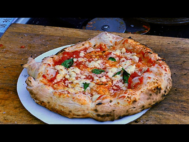 New York City Street Food - Artisan Pizza Margherita Pepperoni