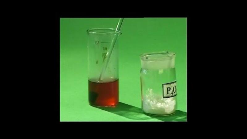 Опыты по химии. Взаимодействие оксида фосфора (V) с водой