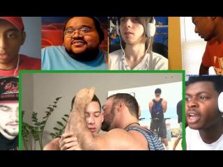 Gay Porn Star screen Kissing and Hot - Reaction mashup