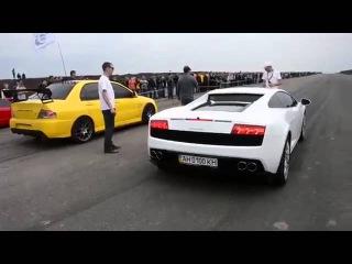 Lamborghini Gallardo vs Mitsubishi Lancer