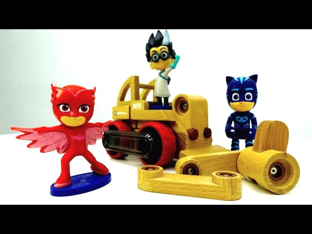 PlayDoh Video mit Pyjamahelden! Wir spielen mit PJMasks Toys und kneten! Video für Kleinkinder