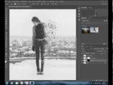Эффект распада в Фотошопе без замены фона speed art