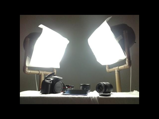 Softbox caseiro - iluminação para filmagem