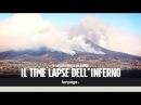 Incendio Vesuvio, così le fiamme hanno divorato il vulcano in poche ore