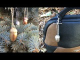 Acorn craft ideas: Christmas tree decoration, accessories, keychain DIY