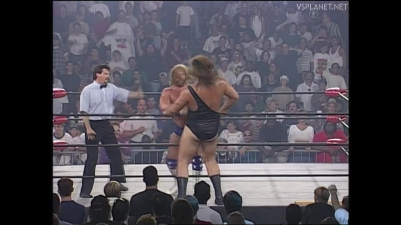 Jim Duggan vs Giant, WCW Monday Nitro 26.08.1996