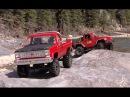 RC CWR TF2 Blazer and SCX-10 Jeep Rubicon blazing a RED trail