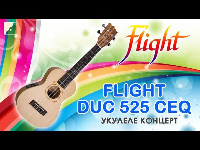 Обзор укулеле концерт Flight DUC 525 CEQ