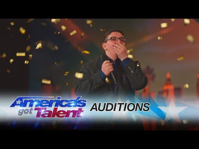 Christian Guardino: Humble 16-Year-Old Is Awarded the Golden Buzzer - America's Got Talent 2017