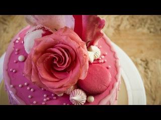Торт #РозовоеБезумие на конкурс от Энди Шефа.