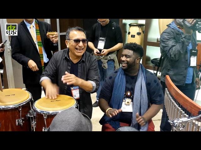 Alex Acuña Weedie Braimah Percussion Jam - NAMM 2017