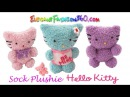 DIY Sock Plushie Hello Kitty/Kawaii Kitty/Stuffed Animal - How to