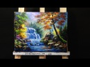 Waterfall acrylic painting lesson 1
